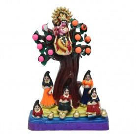 "Krishna Steals Gopis Cloths - 11"""
