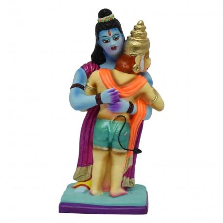 "Raam Hanuman Hugging - 10"""