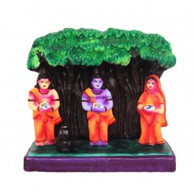 "Rama & Sita - Worshiping A Lingam - 8"""